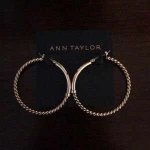 Ann Taylor hoop earrings